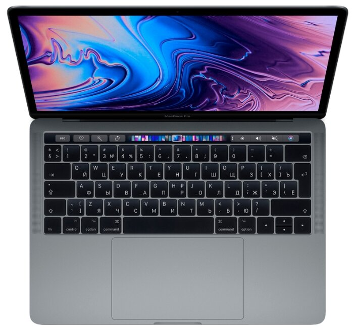 "Ноутбук Apple MacBook Pro 13 with Retina display and Touch Bar Mid 2019 (Intel Core i5 2400 MHz/13.3""/2560x1600/8GB/256GB SSD/DVD нет/Intel Iris Plus Graphics 655/Wi-Fi/Bluetooth/macOS)"