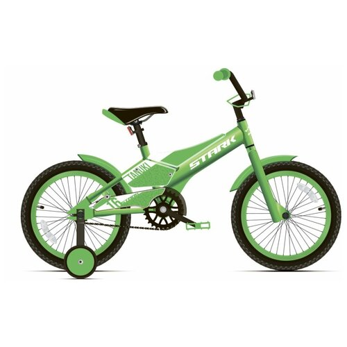 Детский велосипед STARK Tanuki 16 Boy (2020) зеленый/белый (требует финальной сборки) недорого