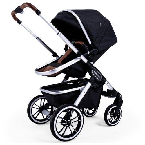 Купить Универсальная коляска Teutonia TRIO (2 в 1) melange black, цвет шасси: серебристый, Коляски