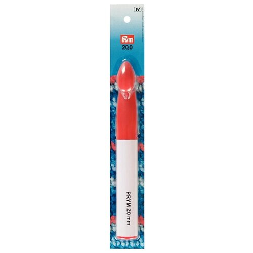 Крючок Prym 218507 диаметр 20 мм, длина 17 см, белый/красный