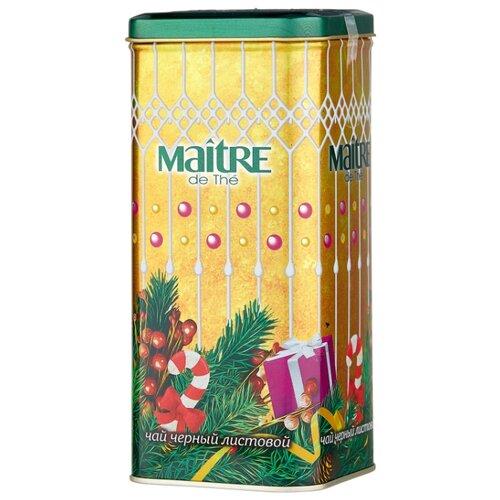 Чай черный листовой Maitre Новогоднее настроение, 90 г агат черный листовой чай 100 г