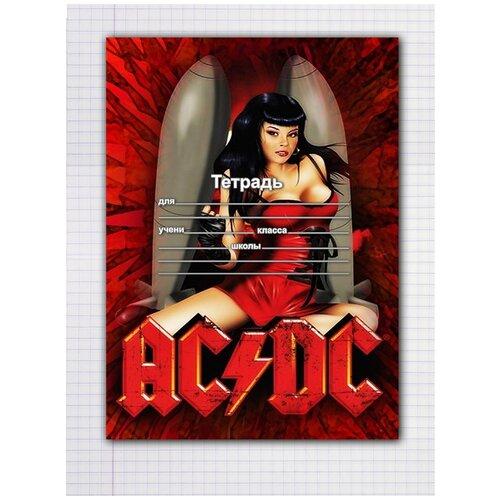 Купить Набор тетрадей 5 штук, 12 листов в клетку с рисунком AC/DC, Drabs, Тетради