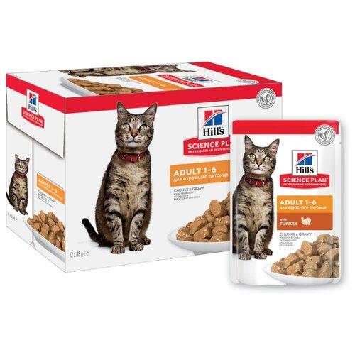 Корм для кошек Hill's Science Plan для профилактики МКБ, с индейкой 12шт. х 85 г (кусочки в соусе)