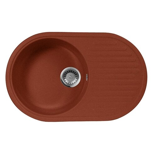 Врезная кухонная мойка 73 см А-Гранит M-18 красный марс