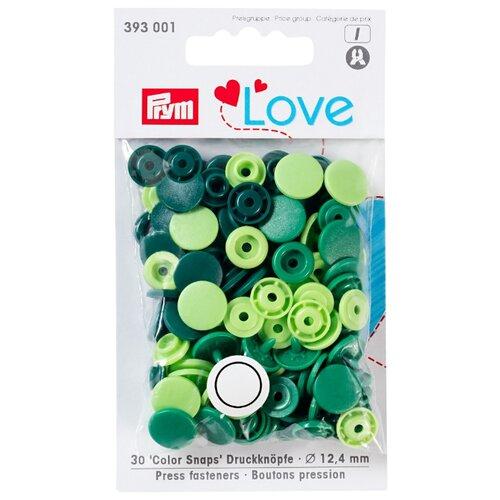 Купить Prym Кнопки непришивные Love - Color Snaps 393001, зеленый 12.4 мм, 30 шт.