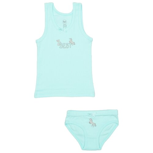 Купить Комплект нижнего белья RuZ Kids размер 140-146, ментол, Белье и купальники