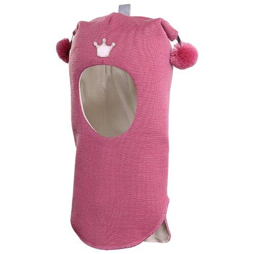 Шапка-шлем Kivat размер 1, серовато-пурпурно-розовый