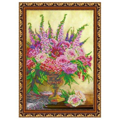 Светлица Набор для вышивания бисером Цветы в вазе 34,1 х 47,7 см, бисер Чехия (153)