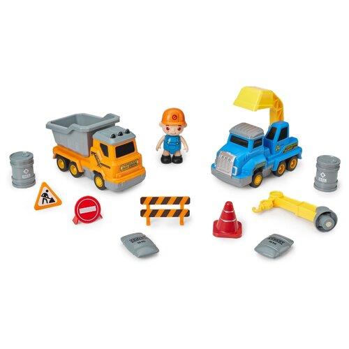Набор техники Happy Baby Magnetic Engineer (331870) blue/yellow резинка happy baby 50580 blue