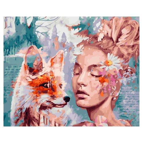Купить ВанГогВоМне Картина по номерам Девушка и лиса , 40х50 (ZX 20787), Картины по номерам и контурам