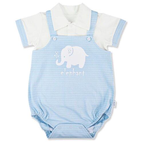 Купить Комплект одежды LEO размер 62, голубой/белый, Комплекты