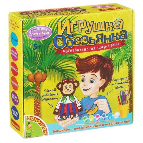 Купить BONDIBON Набор для творчества Игрушка из шар-папье Обезьянка девочка (ВВ1517), Роспись предметов