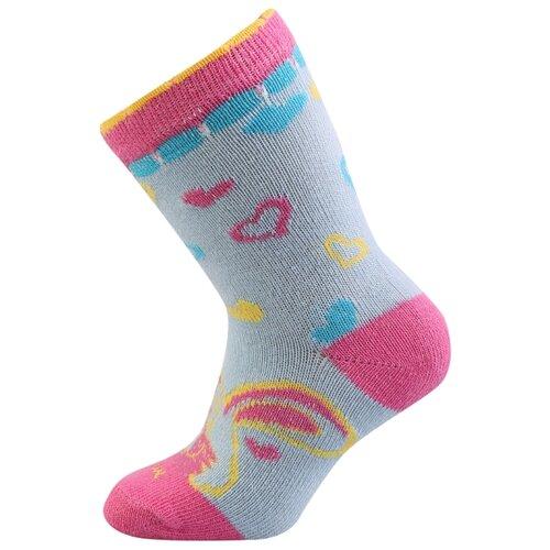 Носки Be Snazzy размер 21-23, голубой/розовый