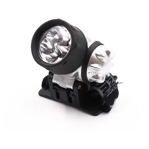 Налобный фонарь СЛЕДОПЫТ Циклоп 12 черно-серебристый фонарь следопыт ручной фокус 1l zoom