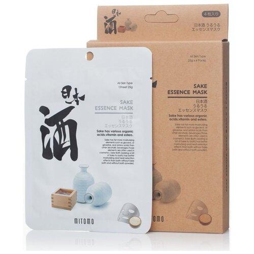 Очищающая тканевая маска для лица с экстрактом саке MITOMO
