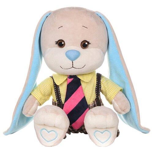 Купить Мягкая игрушка Jack & Lin Зайчик Жак в желтой рубашке и полосатом галстуке 25 см, Мягкие игрушки