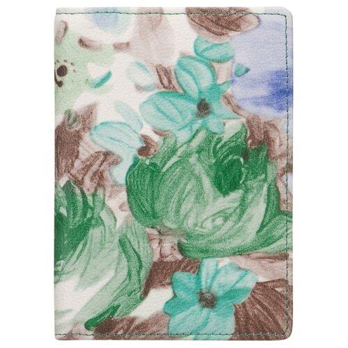 Обложка для паспорта Dr.Koffer X510130-217-65, зеленый/коричневый
