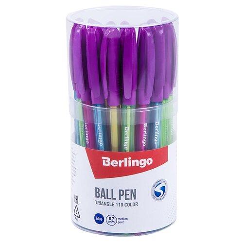 Купить Berlingo Набор шариковых ручек Triangle 110 Color, 0.7 мм, 30 шт., синий цвет чернил, Ручки
