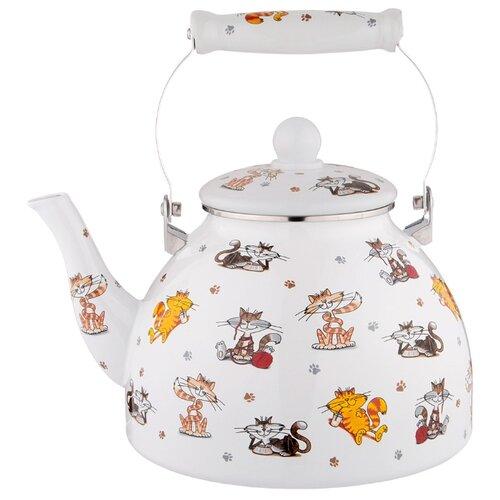 Чайник эмалированный, серия весёлые друзья, 4 л Agness (934-388)