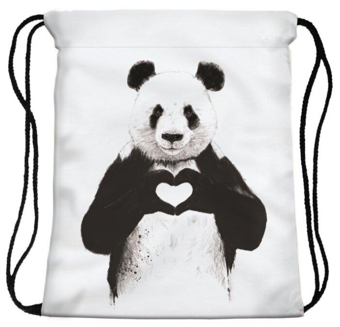 HOMSU сумка-мешок для сменной обуви Panda heart (PF-S-49)