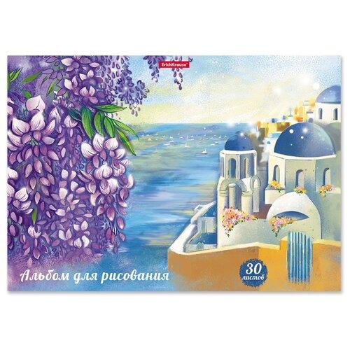 Купить Набор альбомов для рисования ErichKrause Цветущая Греция 29.7 х 21 см (A4), 120 г/м², 30 л. (8шт.), Альбомы для рисования