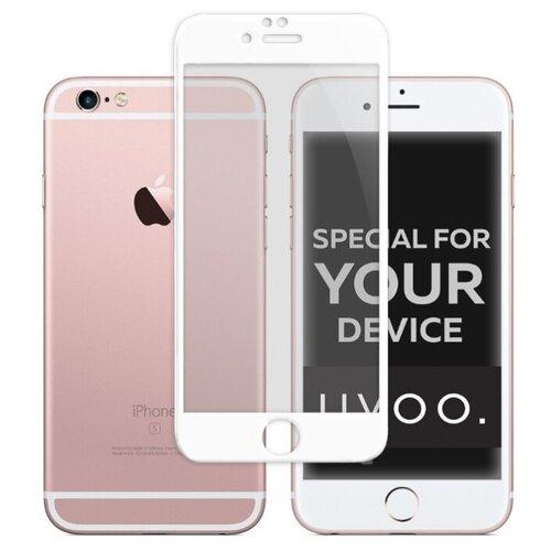 Защитное стекло UVOO Full Screen для Apple iPhone 6/iPhone 6S белый/прозрачный защитное стекло caseguru для apple iphone 6 6s silver logo