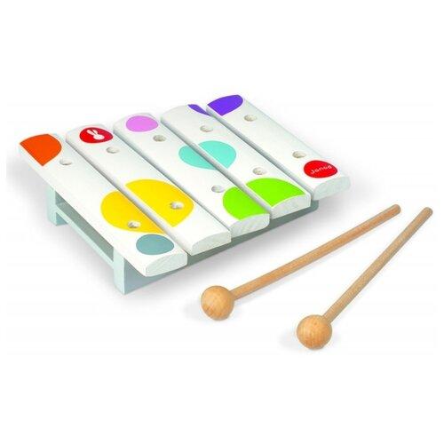 каталки игрушки janod на веревочке ксилофон sweet cocoon Ксилофон малый (5 нот), арт. J07603