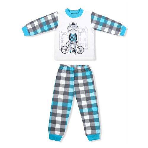Пижама LEO размер 86, голубой