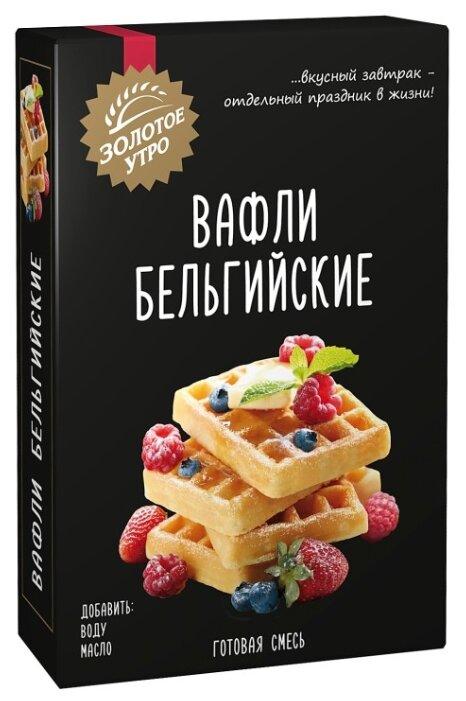 Золотое утро Мучная смесь Вафли Бельгийские, 0.4 кг