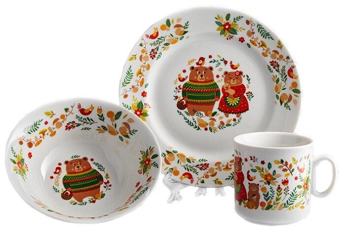 Набор для завтрака Добрушский фарфоровый завод Мишкины сказки, 1 персона