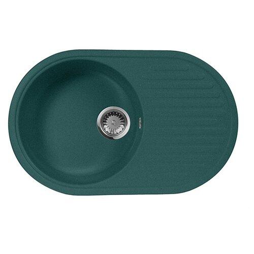 Врезная кухонная мойка 73 см А-Гранит M-18 зеленый