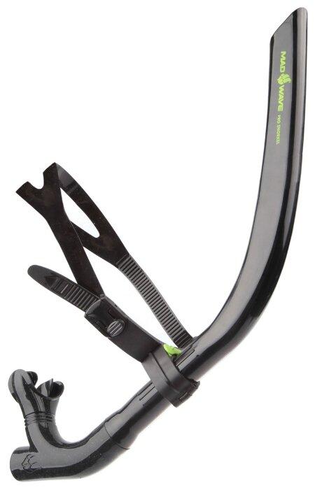 Трубка для плавания MAD WAVE Pro snorkel черный