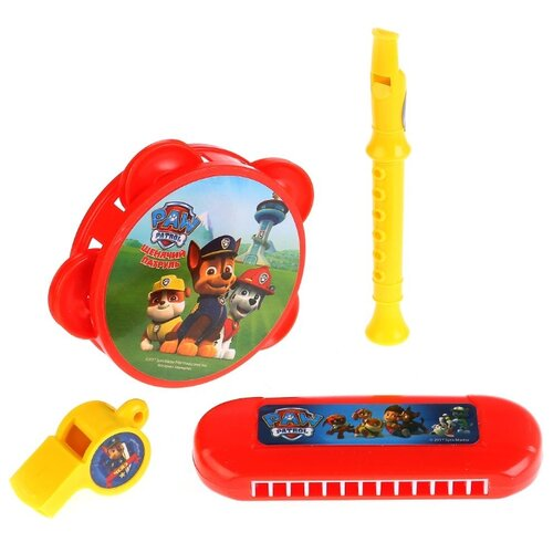 Купить Играем вместе набор инструментов Щенячий патруль 1405M481-R2 красный/желтый, Детские музыкальные инструменты