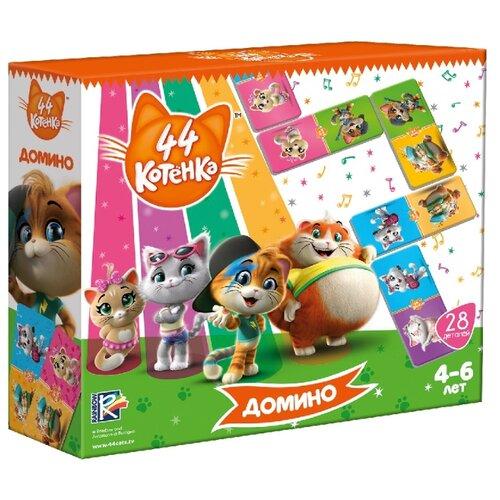 Настольная игра Vladi Toys 44 котенка. Домино VT8055-06 card games vladi toys vt5000 02 boy boys girl girls board game baby kids play