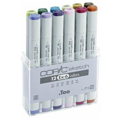 Купить COPIC набор маркеров Sketch EX-6 (H21075-410), 12 шт., Фломастеры и маркеры