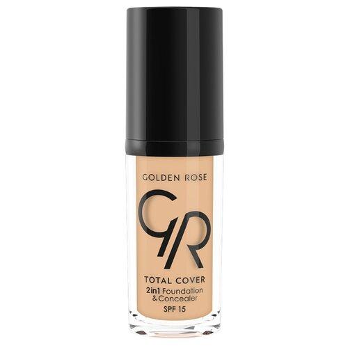 Golden Rose Тональный крем Total Cover 2in1 Foundation & Concealer, 30 мл, оттенок: 11-NudeТональные средства<br>