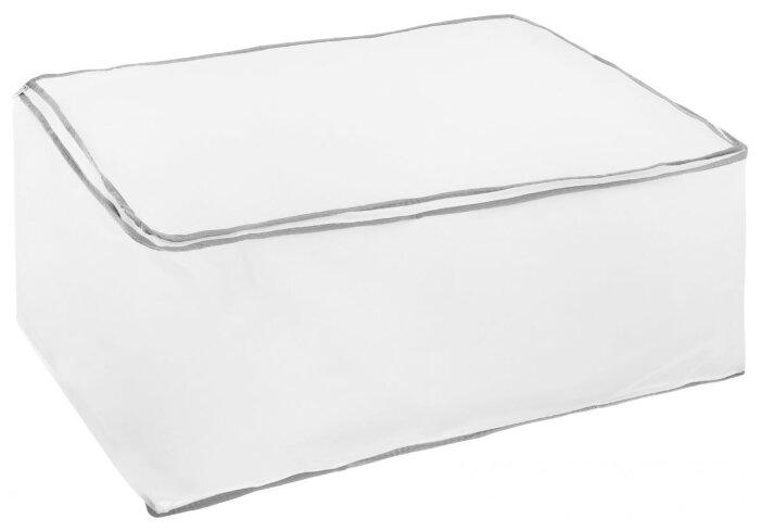 HAUSMANN Кофр для хранения 2B-26040 60x40x30 см белый с серым узором