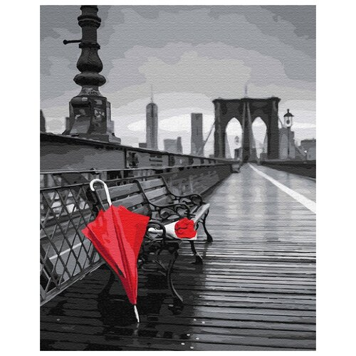 Купить Картина по номерам ВанГогВоМне ZX 22927 Зонт в Бруклине 40х50 см, Картины по номерам и контурам