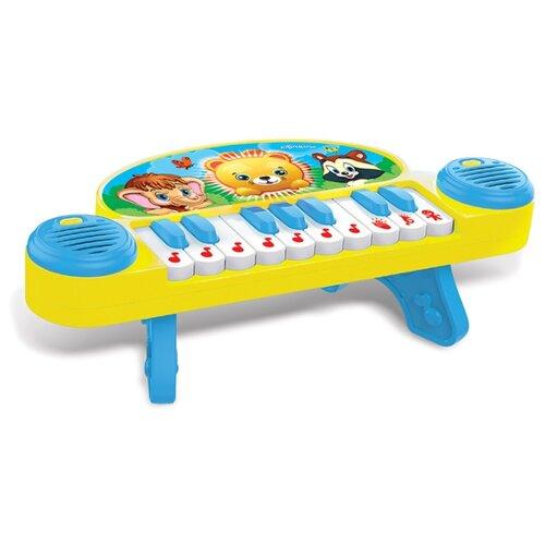 Развивающая игрушка Азбукварик Мультипианино Песни В. Шаинского голубой/желтый