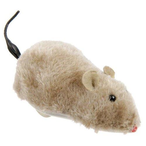 Мышь для кошек Пижон заводная меховая (1120959/1383430) серый