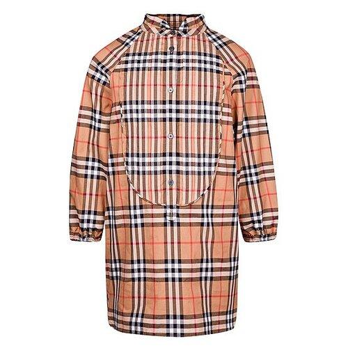 Платье Burberry размер 128, бежевый/клетка