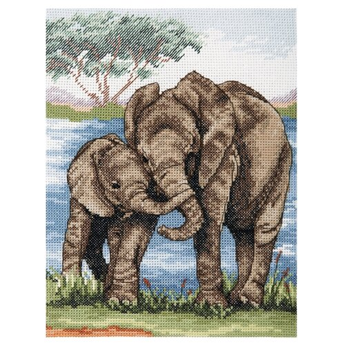 Anchor Набор для вышивания Слоны 23 х 18 см (PCE963) Anchor   фото