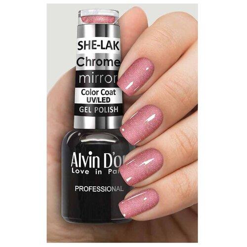 Гель-лак Alvin D'or She-Lak Chrome Mirror, 8 мл, оттенок 6309