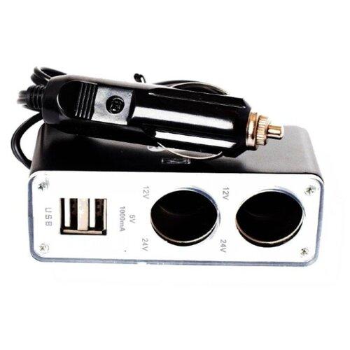 Разветвитель прикуривателя A2DM RPS22U черный/серебристый