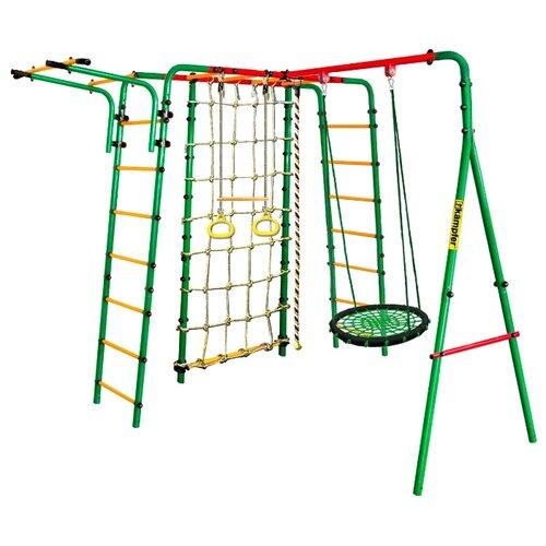 Спортивно-игровой комплекс Kampfer Kindisch + качели-гнездо (100 см) зеленый