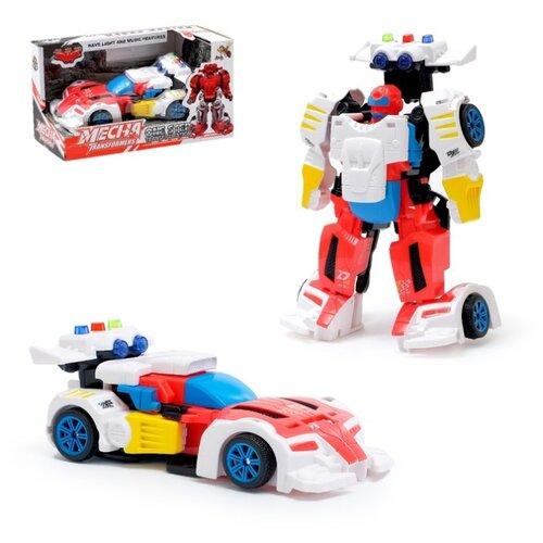 Купить Робот трансформер DADE TOYS Спорткар , свет и звук, Роботы и трансформеры