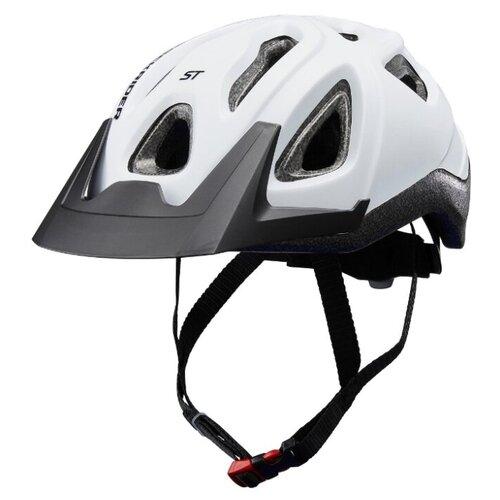 Шлем для горного велосипеда ST 100, белый M, ROCKRIDER X Декатлон