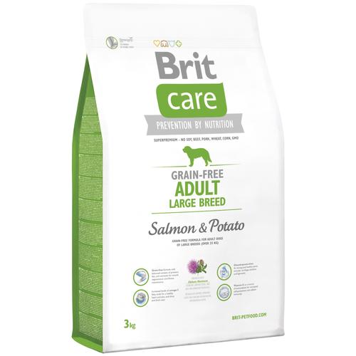 Фото - Сухой корм для собак Brit Care, беззерновой, лосось, с картофелем 3 кг (для крупных пород) сухой корм для щенков brit care лосось с картофелем 3 кг