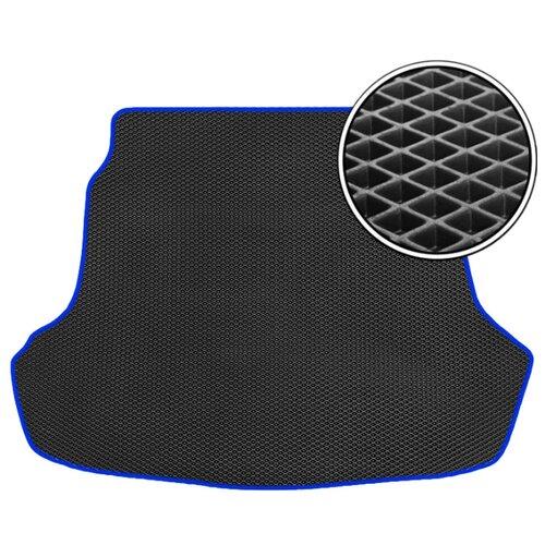 Коврик Vicecar EV22009R для Peugeot 301 черный/темно-синий кант