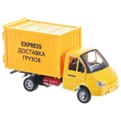 Купить Грузовик Play Smart Доставка грузов (9077-E) 1:27 желтый, Машинки и техника